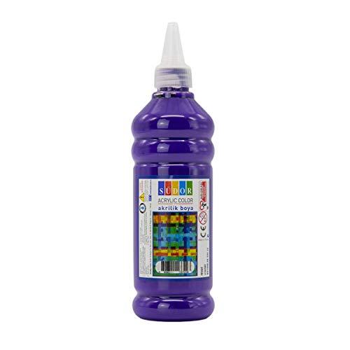 SÜDOR ACRYL Farbe 500 ml - Günstige Acrylfarbe Hochwertige Künstler-Malfarben Basteln (Lila)