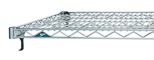 METRO Estanterías de alambre industrial súper ajustables A2460NC Super Erecta, cromadas, 60 x 24 pulgadas, paquete de 2