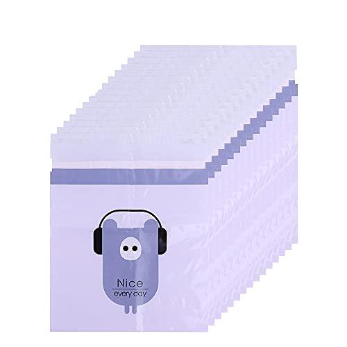 MKNEDS Bolsa de Basura de Coche desechable fácil de Pegar, Bolsa de vómito Biodegradable a Prueba de Fugas, Hermosa Bolsa de Almacenamiento de Cocina, para la Cocina de la Oficina del Coche (Purple)