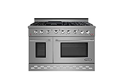 "NXR SC4811 48"" 7.2 cu.ft. Pro-Style Natural Gas Range with Convection Oven, Stainless Steel"
