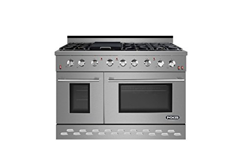 NXR SC4811 48' 7.2 cu.ft. Pro-Style Natural Gas Range with Convection Oven, Stainless Steel