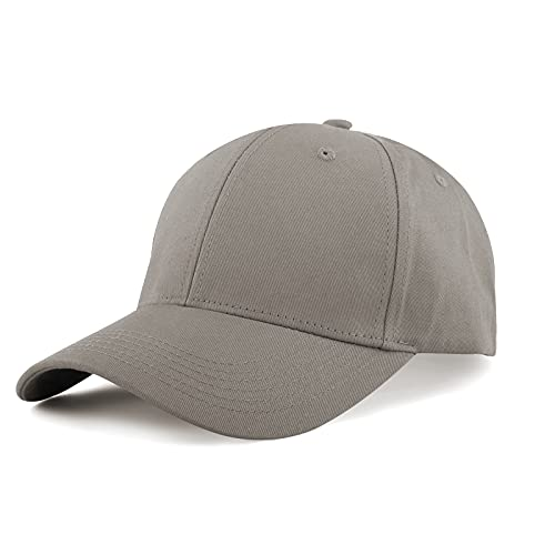 KELOYI Gorra Hombre Mujer Verano Béisbol Gris Baratas Ajustable Cap Algodón Hats Deporte Polo Running
