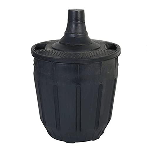 Garrafa de cristal con forro de plástico 10 L con asas. Bidón, damajuana, botella para almacenar agua, vino o licores 42 x 29 x