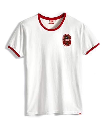 Wahou! by Mahou Logo Parche Mahou 1934 Camiseta, Blanco, Grande para Hombre