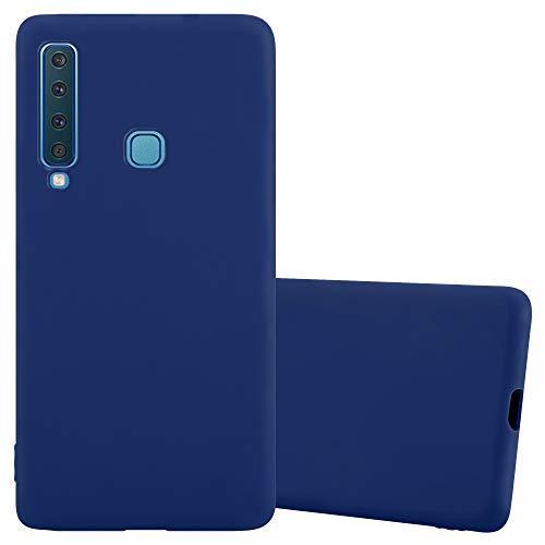 Cadorabo Custodia per Samsung Galaxy A9 2018 in Candy Blu Scuro - Morbida Cover Protettiva Sottile di Silicone TPU con Bordo Protezione - Ultra Slim Case Antiurto Gel Back Bumper Guscio