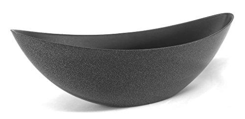 Decoline Kunststoff Blumentopf Schiff (schwarz Glitter, L: 39 x 13cm)