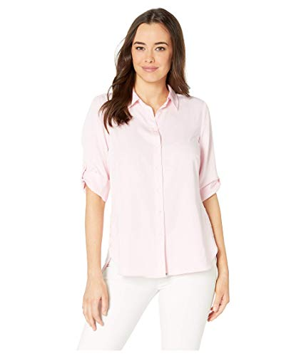 FDJ French Dressing Jeans Damen Solid Blusen Ideal 3/4 Tab Up Sleeve Bluse - rosa - 36