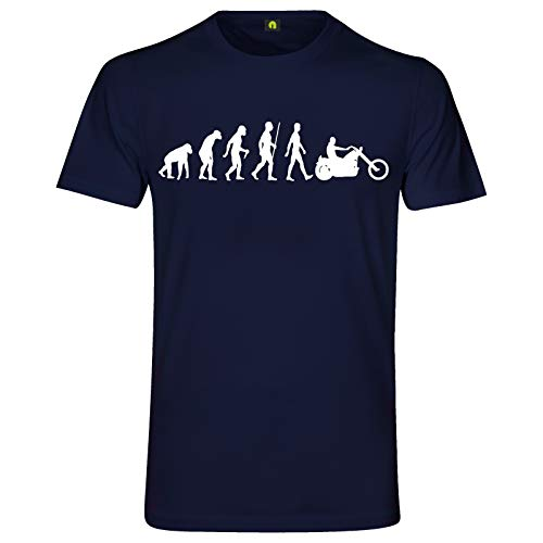Evolution Chopper T-Shirt | Motorrad | Motorcycle | Biker | Club | Bike Navy Blau XL