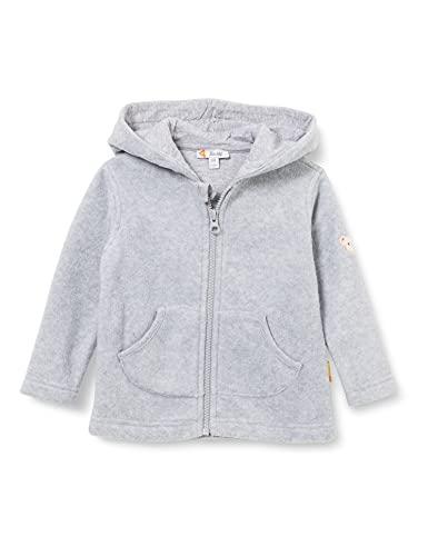 Steiff Unisex Kinder Sweater Cardigan Strickjacke, Soft Grey Melange, 80