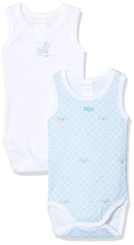 Absorba 6Q60286-RA-Bodys Body, Azul (Bleu Moyen 43), 12 Meses para Bebés