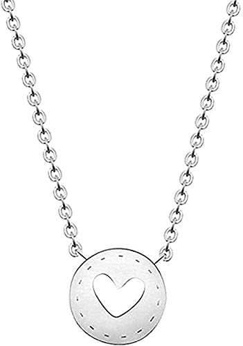 Yiffshunl Collar Moda Minimalista Joyas Círculo Geométrico Amor Corazón Botón Gargantilla Collar Colgante Moda Mujer