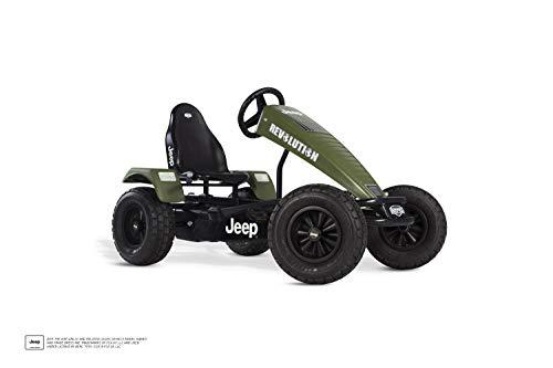 BERG Gokart mit XL-frame Jeep® Revolution | Kinderfahrzeug, Tretauto mit verstellbarer Sitz, Mit Freilauf, Kinderspielzeug geeignet für Kinder im Alter ab 5 Jahren
