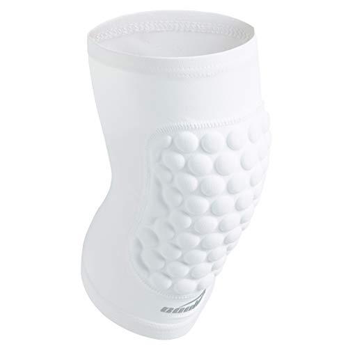 COOLOMG Basketball Knieschoner für Kinder Beinstulpe Knieschutz Knieprotektor gepolstert Weiß XS