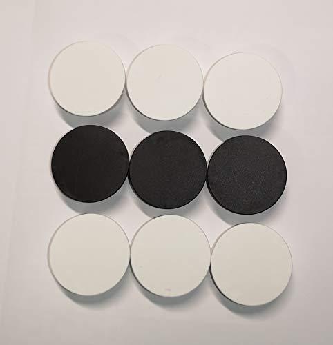 STECKEL® 9 unidades (6 unidades de color blanco y 3 negros), tapa protectora contra el polvo para enchufes limpios, regletas, enchufes múltiples, protección contra salpicaduras, diseño