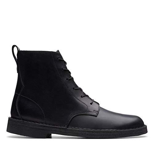 Clarks Originals Herren Desert Mali Biker Boots, Schwarz (Black Polished Black Polished), 41 EU