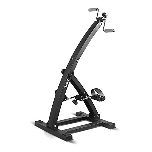 Entrenador de Pies y Manos, bicicleta de rehabilitación ajustable con resistencia variable, para hombres mayores, mujeres, entrenamiento de ejercicios en casa/Black / 103x52x48cm