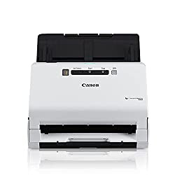 small Canon ImageFORMULA R40 Office Document Scanner for PC and Mac, Double-sided Color Scan, Easy Setup …