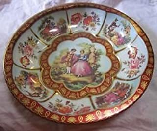 Daher Decorated Ware Colonial Courting Tin Round Serving Dish