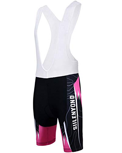 SIILENYOND Women Summer Cycling Strap Shorts Breathable Quick-Dry Perspiration MTB Bike Clothes 5D Gel Padded Female Bicycle Bib Shorts B-XS