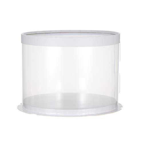 UPKOCH Caja Redonda Para Tarta Recipiente Para Conservar Y Transportar Tartas
