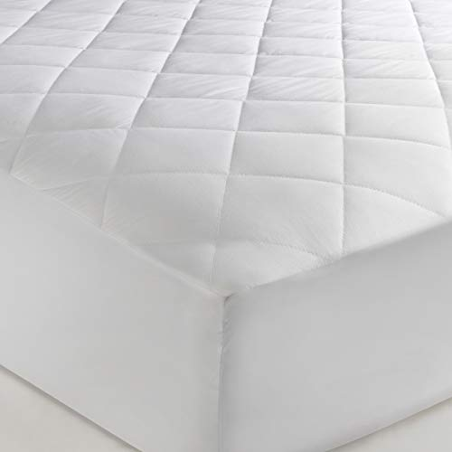 The Bettersleep Company Brand 42cm Extra Deep Skirt Egyptian Cotton Mattress Protector King Size - Hotel Quality Percale Cotton Supersoft Diamond Quilted & Anti Allergenic Extra Comfort & Protection