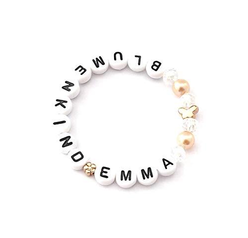 Blumenmädchen Armband Hochzeit personalisiert