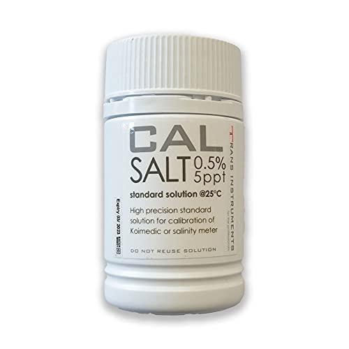 Trans Instruments Koi Company Kalibrierlösung • Kalibrierflüssigkeit für Salztester • Eichlösung mit hoher Genauigkeit 0,5%/ 5ppt 100ml