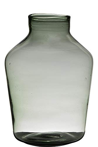Vaas H36 D24 Handgemaakt Recycled Glas Oval