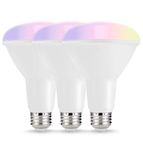 LOHAS Smart LED Bulbs, Multicolored WiFi LED Lights, BR30 Dimmable Recessed Light Bulbs, No Hub...