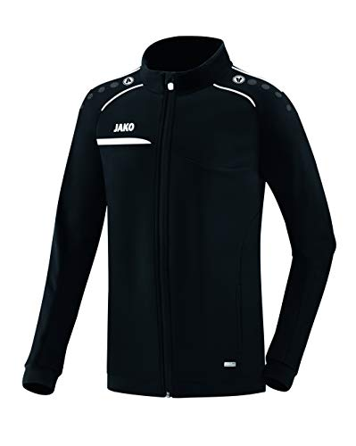 JAKO Herren Prestige Polyesterjacke Jacke, schwarz/Weiß, L