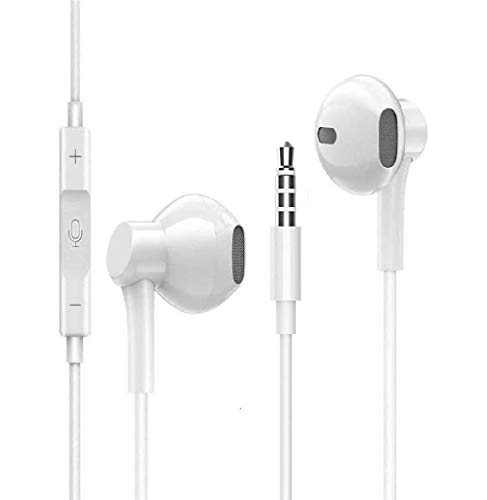 Écouteur,Ecouteurs Intra Auriculaires avec Microphone et télécommande Compatible avec iPhone 6/6s, iPad Samsung Galaxy/Xiaomi/Huawei et Smartphone Android en Jack 3,5 mm