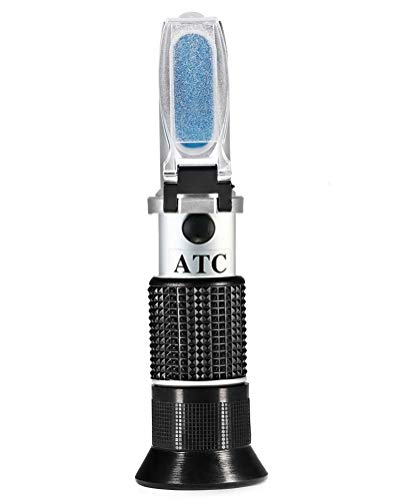 iitrust Enólogo Refractómetro con ATC (Azúcar: 0-40%, Alcohol: 0-25%) para Viticultor para Medir el Contenido de Azúcar y Alcohol en el Jugo de UVA Original