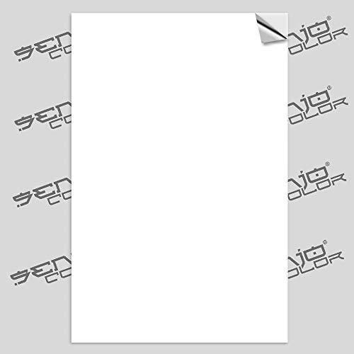 Senjo Color Airbrush Schablonenfolie selbstklebend Weiss 120µ 10 Bogen A4 Polyesterfolie bedruckbar zum Schablonen selber Machen