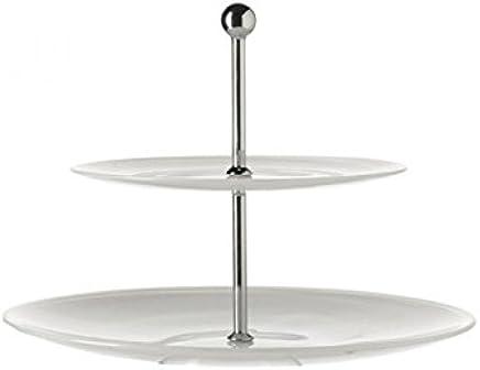 Preisvergleich für Leonardo 026741Edelstahl Tablett, Weiß–Halter, Stahl, Edelstahl, Weiß, 305mm, 305mm, 235mm
