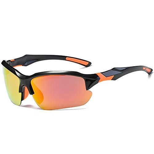 NSGJUYT Al Aire Libre Pesca polarizada Gafas HD UV400 Gafas de Sol de Pesca Hombres Mujeres Deportes Escalada Equitación Ciclismo Camping Gafas Gafas (Color : Black Red)