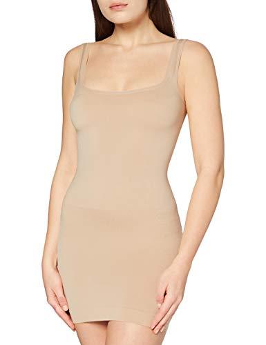 FM London Under Bust Control Dress, Sottoveste Modellante Donna, Beige (Nude), 38/40 (taglia produttore: Medium)