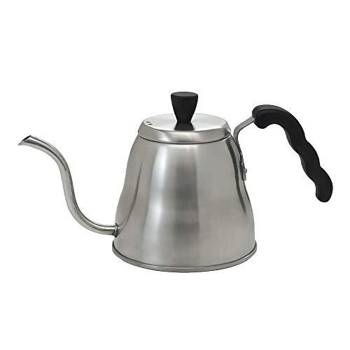 Hario V60 Jino Stainless Steel Gooseneck Coffee Kettle, Stovetop (1.1 liter/effective 0.8 liter)