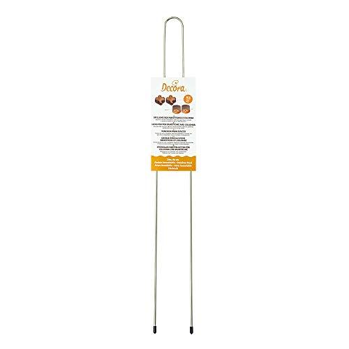 Decora 0064016 Spillone per Panettone e Colomba 62 CM, Acciaio Inosidabile, Inossidabile, Argento