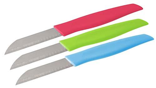 NIROSTA 43207 FACKELMANN - Cuchillo para verduras tropicales, plástico / acero inoxidable, 17 cm, colores surtidos, 1 pieza