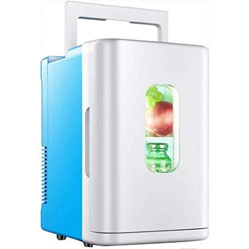 Koelkast, stille desktop minibar, 10 liter, auto mini-AC/DC-bewaarbox voor studenten en studentenhuizen, mini-koelkast om te rijden (kleur: B)