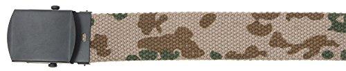 MFH Gürtel mit Metallschloß Koppel Stoffgürtel Länge bis 130 cm verstellbar Breite: 3 cm viele Farben (Tropentarn)