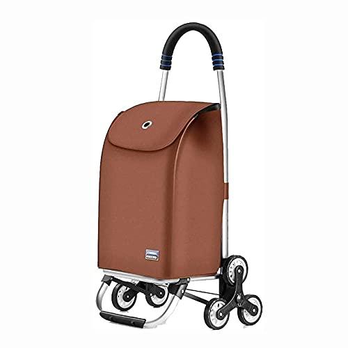 COUYY Trolley Multi-Funzione Shopping Carrelli da Cucina Storage Storage Utility-Cart Trailer Deposito Bagagli Carrello Pieghevole Drogheria