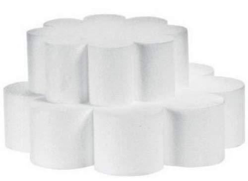 Decora en polystyrène en Forme de Fleur Sucette gâteau pour décoration, Blanc cassé, Polystyrène, Ecru, 40 x 7.5 cm