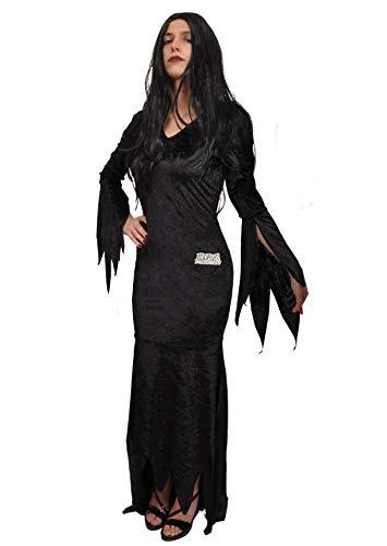Ciao 11140 Morticia Addams - Disfraz de familia (talla única)