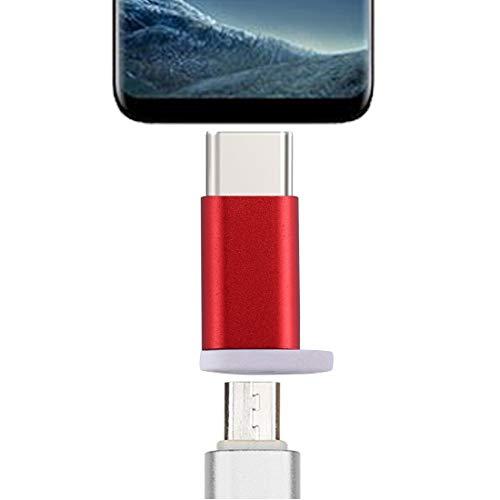 Buen Tipo C Macho a Micro USB 2.0 Adaptador convertidor de la Hembra, for la Galaxia S8 y S8 + / LG G6 / Huawei P10 y P10 Plus/OnePlus 5 / Xiaomi MI6 & MAX 2 / y Otros teléfonos Inteligentes (Negro)