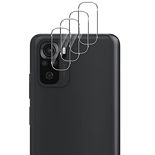 Aerku Cámara Trasera Lente Protector de Pantalla para Xiaomi Redmi Note 10 4G / Note 10S [4 Piezas],[Resistente a Arañazos] HD Sin Burbujas Cristal Templado Cámara Protector[Transparente]
