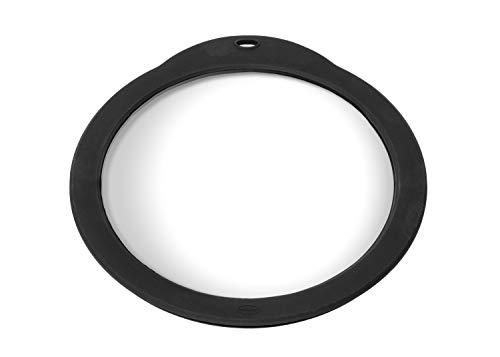 RÖSLE Frischhaltedeckel aus Glas, Glasdeckel mit Silikonrand zum Verschließen von Schüsseln und Töpfen, Spülmaschinengeeignet, 24 cm Durchmesser