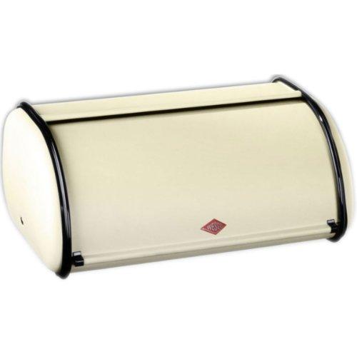 Wesco 212 101 Rollbrotkasten klein, Stahlblech mandel, 33 x 13,5 x 21,5 cm