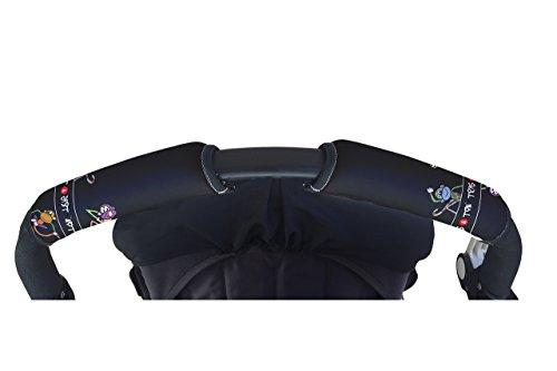 Tris&Ton Fundas empunaduras horizontal doble Modelo Monitos, empunadura funda para silla de paseo cochecito carrito carro (Tris y Ton)
