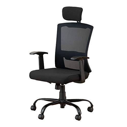 ドウシシャ オフィスチェア ハイバックメッシュチェア ブラック EPHM-BK